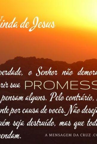 Mensagem Para Whatsapp - Lindo por do sol com texto biblico sobre a vinda de Jesus