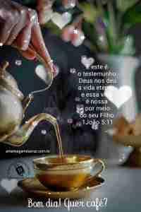 Mensagem de Bom dia com versiculo Vida Eterna