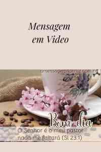 Nada Me Faltará - Mensagem Evangelica em video