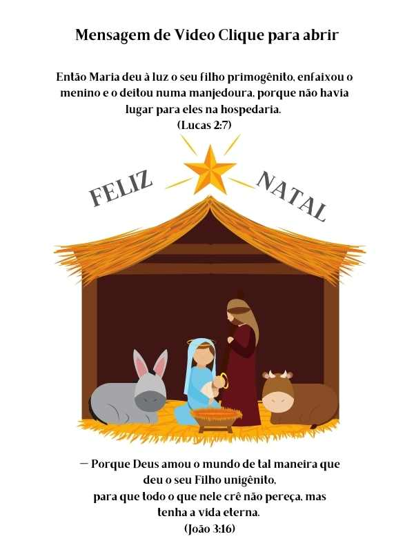 Feliz Natal Nasceu Jesus