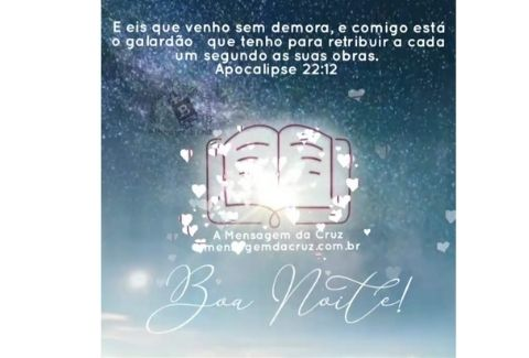 Breve Jesus Voltará - Mensagem Bíblica de Boa Noite