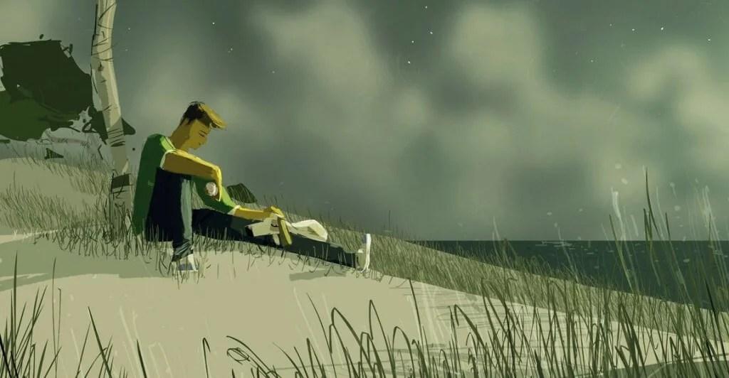 pensativo-praia