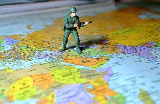 Soldado posicionado em mapa
