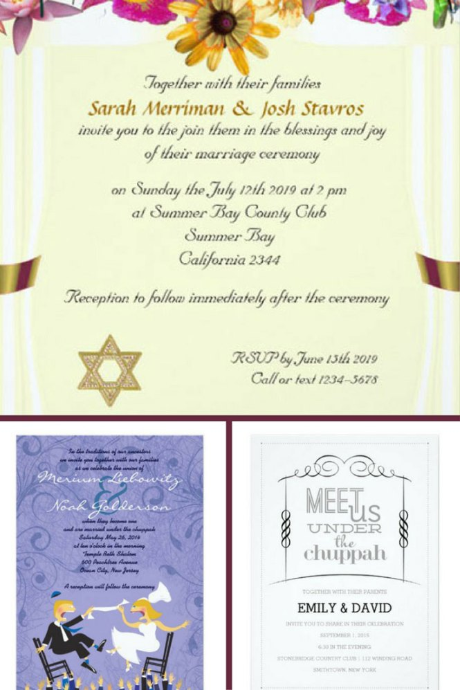 20 Beautiful Jewish Wedding Invitations For The S