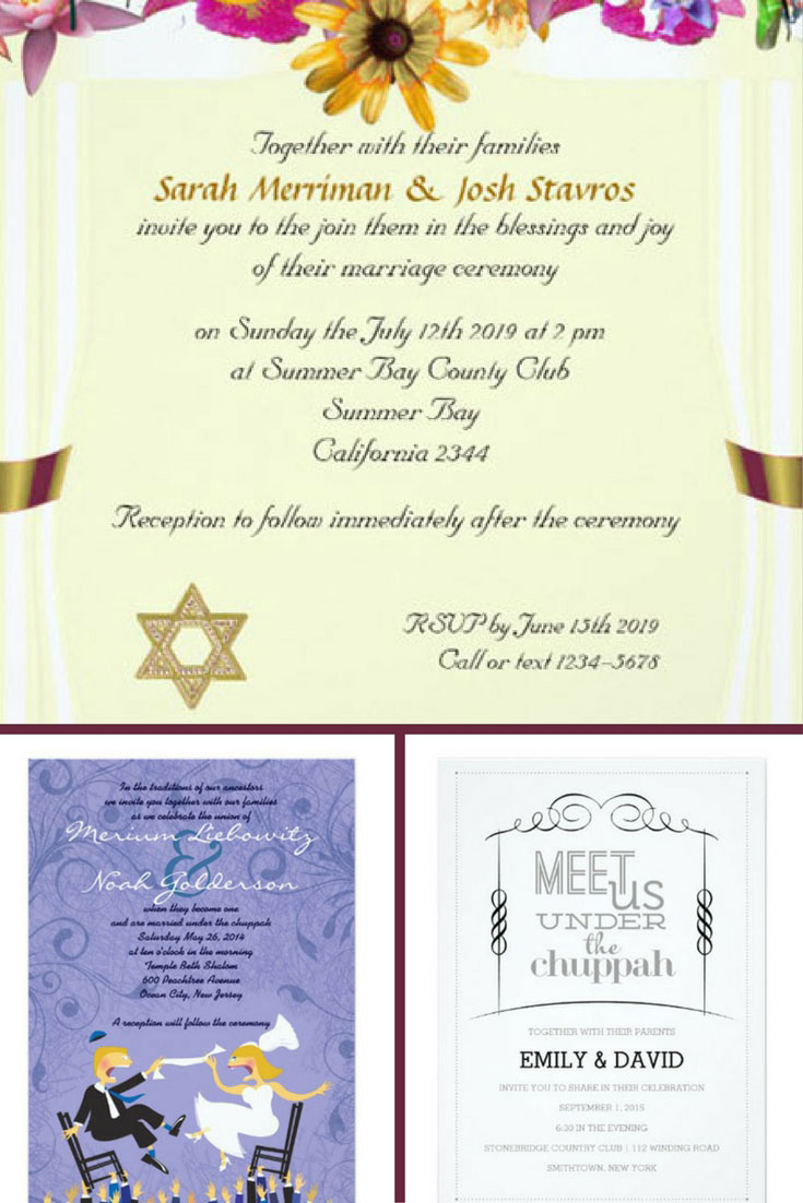 18 Geous Jewish Wedding Invitations For An Unfettable Night 2018