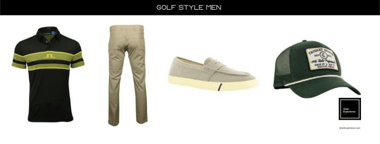 Quality men's golf clothes and men's golf shoes