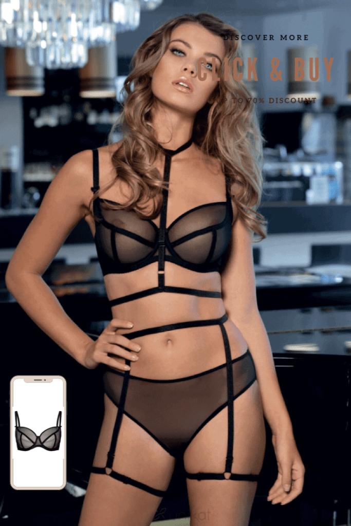 Lavinia Sexy Lingerie Design Lencería Black Very Hot Straps