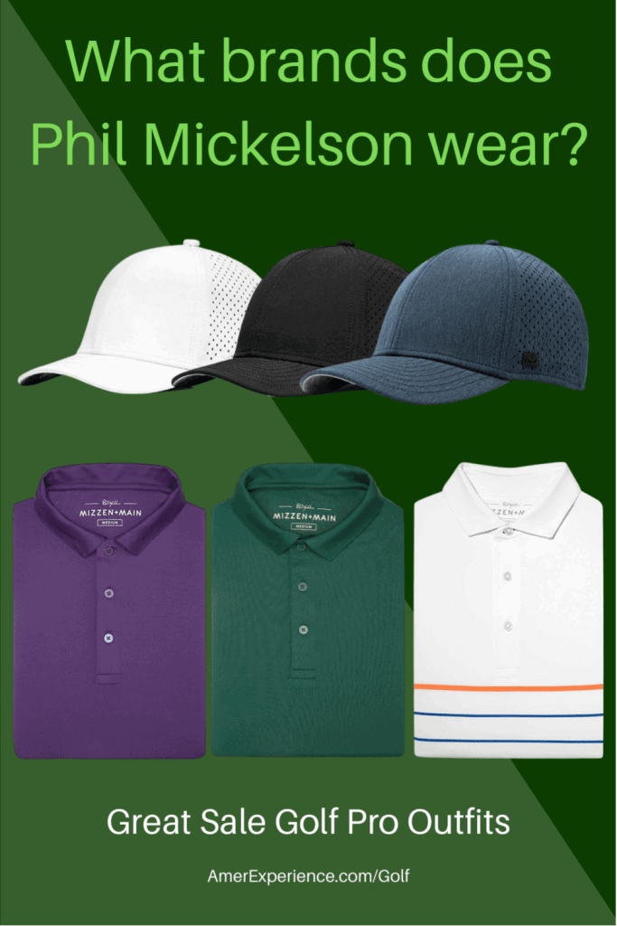 What brands does Phil Mickelson wear