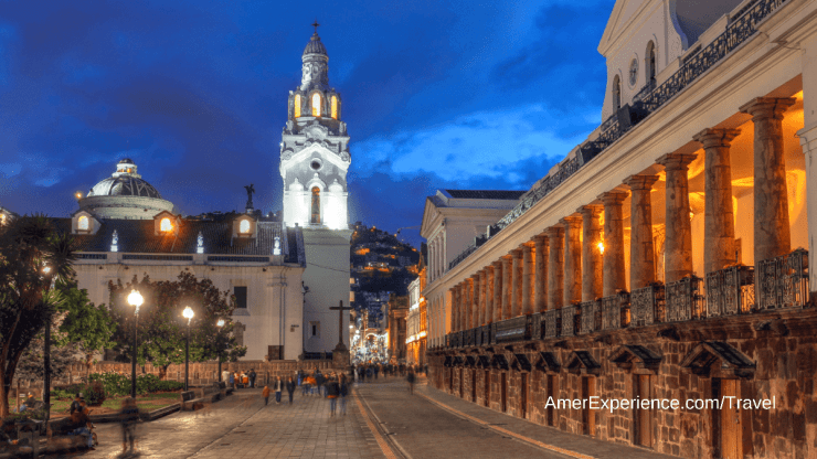 Plaza Grande Plaza de la Independencia in Quito Ecuador, Quito Cathedral and Carondelet Palace the seat of the president