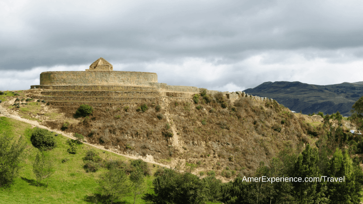 Ecuador ancient Incapirca ruin the most important Inca site in Ecuador