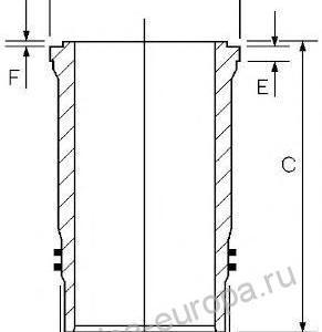 гильза цилиндра d128 MB Axor/O400/O500 дв.OM457