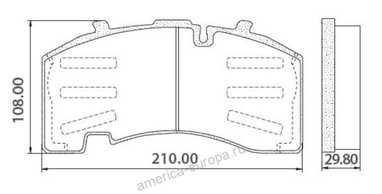 Колодки тормозные 29171 SAF/BPW KNORR SB4309 (SK7)