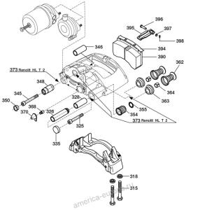 Дисковый тормозной механизм BPW SB 3745