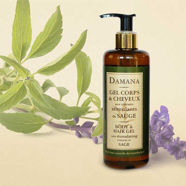 Hand and Body Wash enhanced with extracts sage