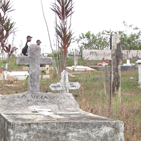 A Macarena, Colombia grave site in February, 2016.