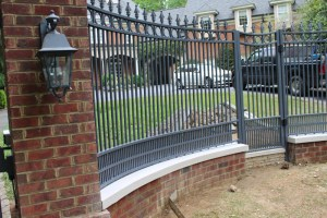 Metal and Brick Ornamental Residential Fence | America Fence