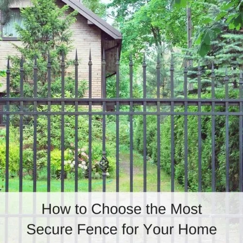 Black Iron Home Security Fence | America Fence