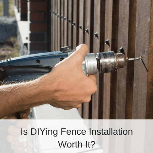 Is Diying Fence Installation Worth It America Fence