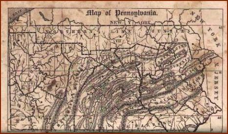 1846 Pennsylvania courtesy ofwww.mapsofpa.com