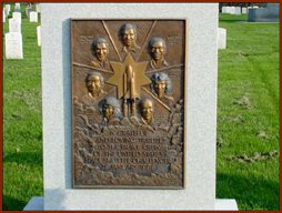 Challenger Monument — public domain photo courtesy of Arlington National Cemetery