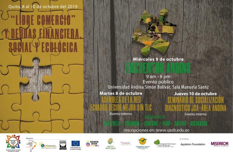 Ecuador: Jornadas de debate sobre deuda y TLCs