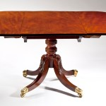 Federal Carved Mahogany Dining Table by Duncan Phyfe