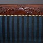 Carved Mahogany Grecian Scroll-Arm Sofa