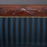 Carved Mahogany Grecian Scroll-Arm Sofa