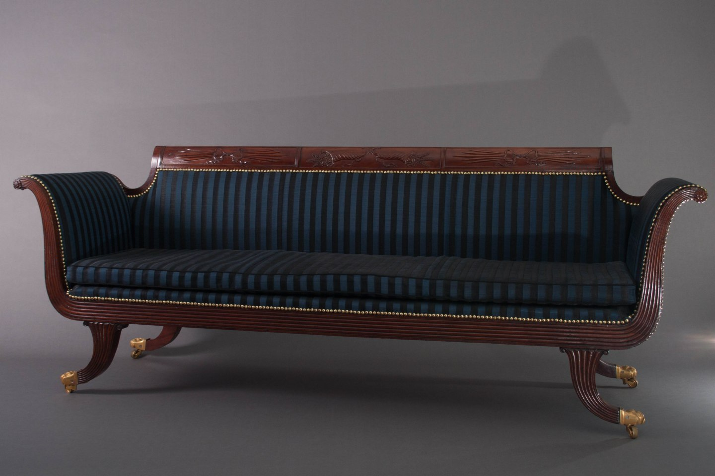 Grecian Scroll-Arm Sofa by Duncan Phyfe