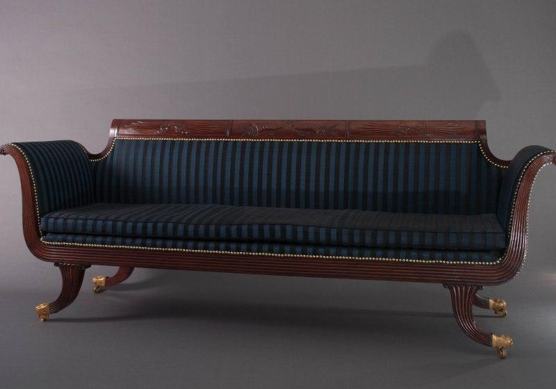 Grecian Scroll-Arm Sofa by Duncan Phyfe