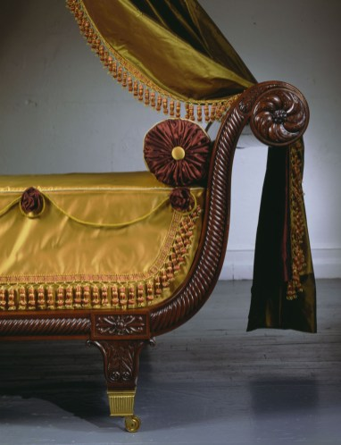 Classical Carved Mahogany Sleigh Bed