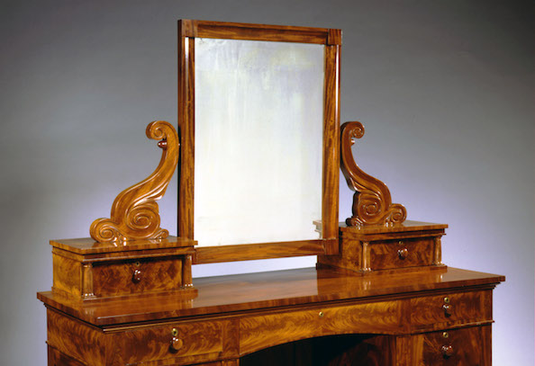 Classical Mahogany Dressing Table with attached Mirror