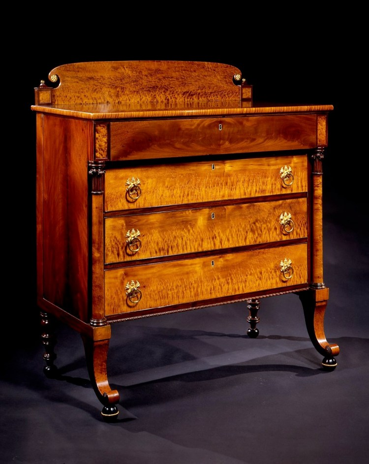 Figured Maple Bureau by William Hook