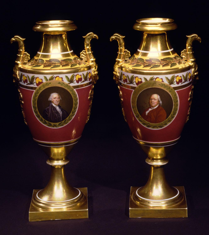 E-MM-Pair of Heroes vases-black bkgrnd