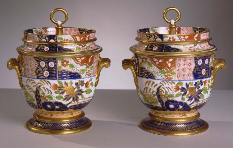 Pair of Spode Porcelain Ice Pails
