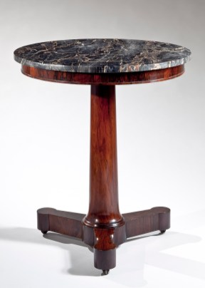 Marble Top Rosewood Gueridon by Duncan Phyfe