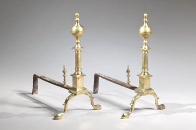 Boston Federal Brass Andirons