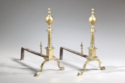 Boston Federal Brass Andirons