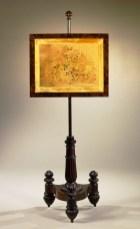 Carved Mahogany Pole Screen