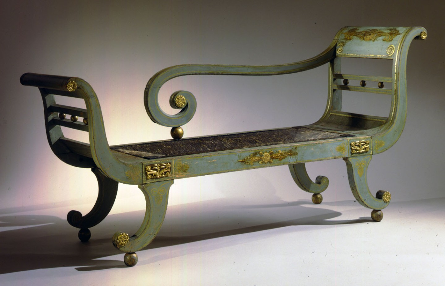 Painted Bronze-Mounted Grecian Couch