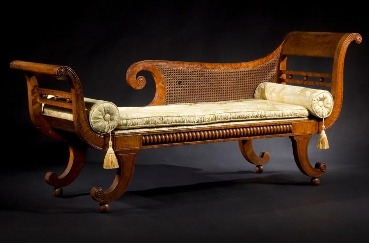 "Philadelphia Maple Grecian ""Recamier"" Couch"