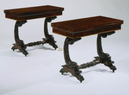 T-Cd-958101 Pair of Philly Dolphin Card Tables