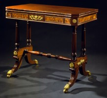 Brass-Mounted and Inlaid Games Table by Thomas Seymour
