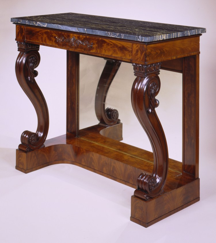 Restauration Carved Mahogany Pier Tables