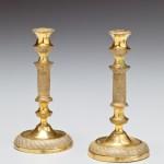 Miniature Gilt-Bronze Taper Sticks