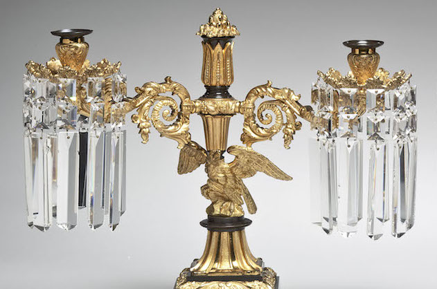 Lacquered Brass Candelabra by Messenger & Philpson
