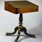 Rosewood Painted Pedestal Desk
