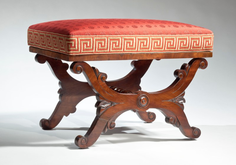 Curule-base Footstool - Vose Family