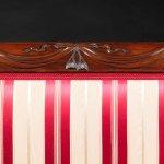 Federal New York Sofa Carved Crest Rail Detail