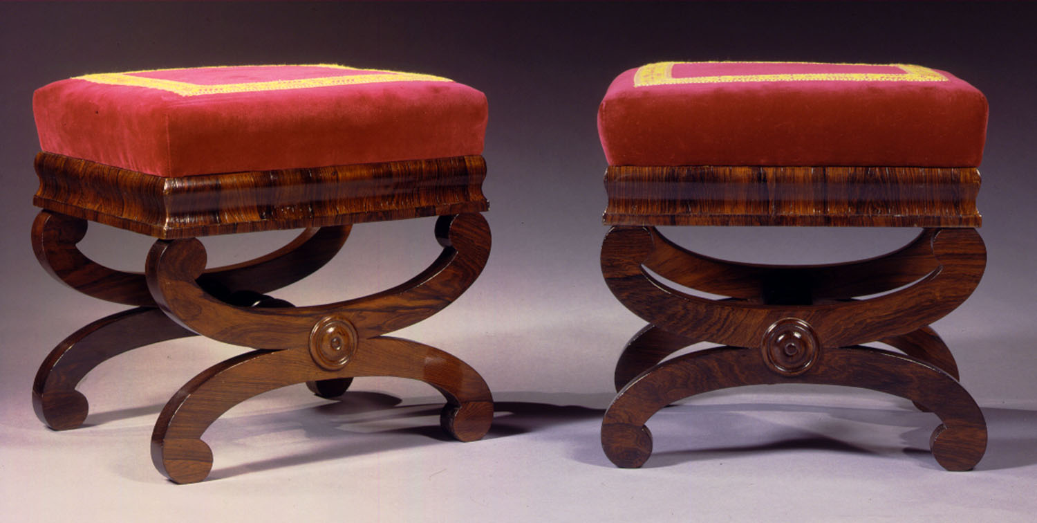 S-F-Pair of Boston Rosewood Stools